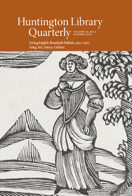 Huntington Library Quarterly Autumn 2020 Volume 83